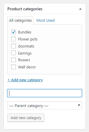 How to Create WooCommerce Bundle Products - Add product category
