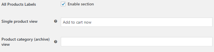 Add to Cart Button Labels for WooCommerce - All Products Labels Options