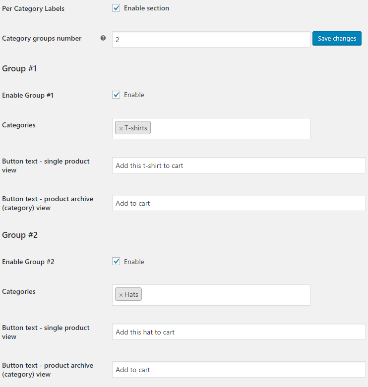 Add to Cart Button Labels for WooCommerce - Per Category Labels Options