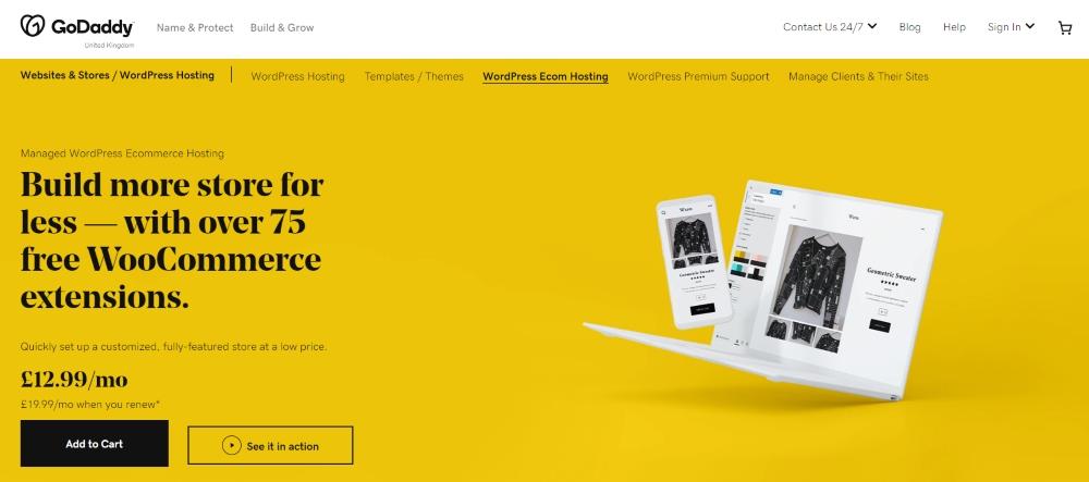 Best Web Hosting for WooCommerce - GoDaddy
