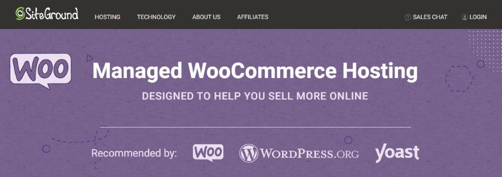 Best Hosting for WooCommerce - SiteGround