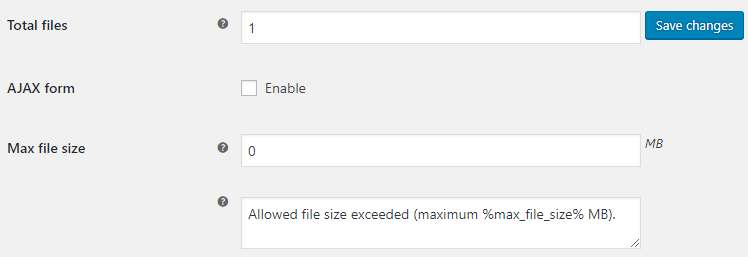 Checkout Files Upload for WooCommerce - Admin Settings - General Options