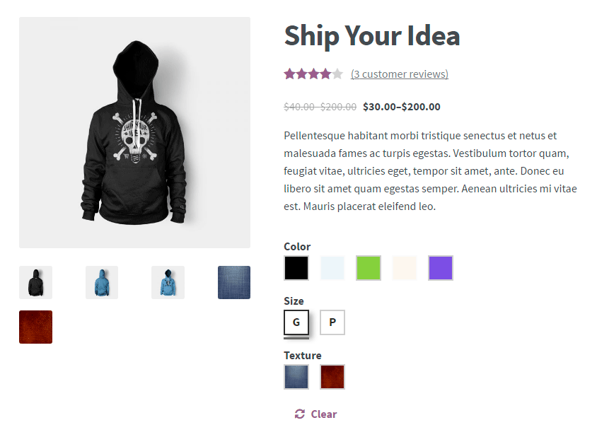 Color or Image Variation Swatches for WooCommerce Pro - Frontend - Add attribute images on gallery