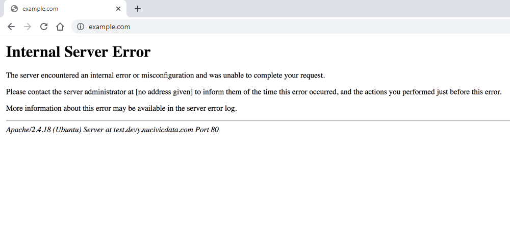 Common WordPress Errors - Internal Server Error