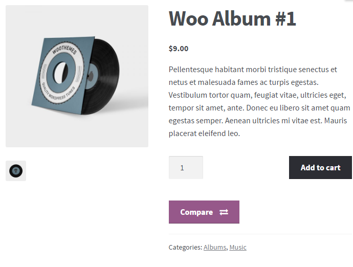 Compare Products for WooCommerce - Frontend - Compare button