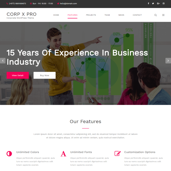 Corporate X – WordPress Theme