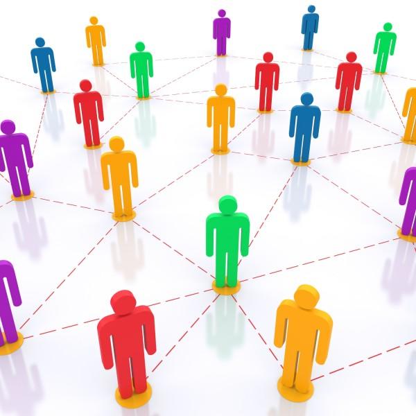 Social network. 3d rendered illustration