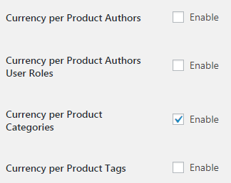 Currency per Product for WooCommerce - Admin Settings - Additional Options