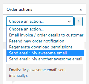 Custom Emails for WooCommerce - Order Actions
