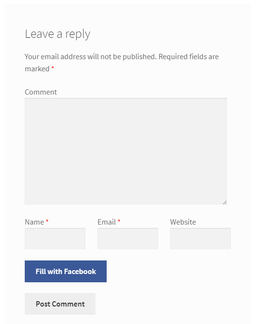 Discussions Tab for WooCommerce - Frontend - Facebook Autofill Option