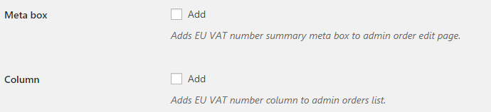 EU VAT for WooCommerce - Admin Options