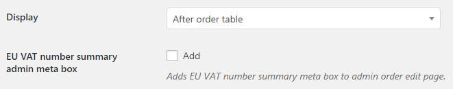 EU VAT for WooCommerce - Admin Settings - Display Options