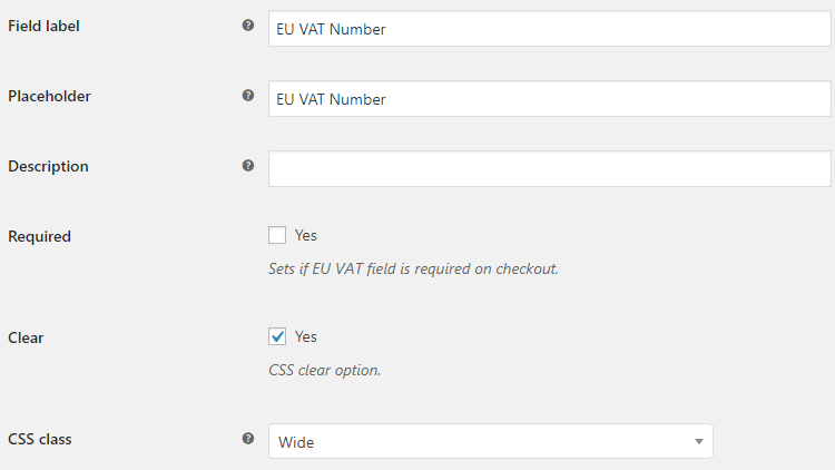 EU VAT for WooCommerce - Admin Settings - Frontend Options