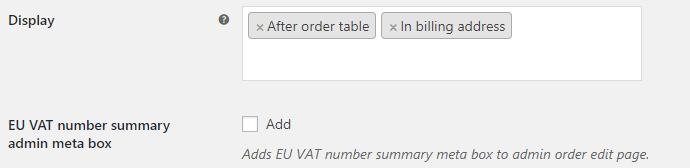 EU VAT for WooCommerce - Display Options