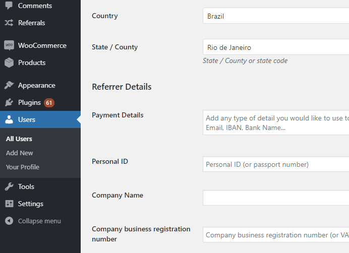Easy Referral for WooCommerce - admin-referrer-details