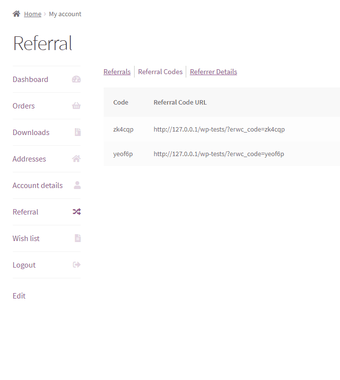 Easy Referral for WooCommerce - frontend-referral-codes