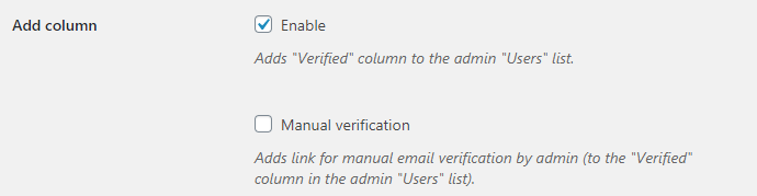 Email Verification for WooCommerce - Admin Options