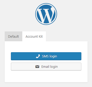 Facebook Account Kit Login for WordPress - Admin - Login