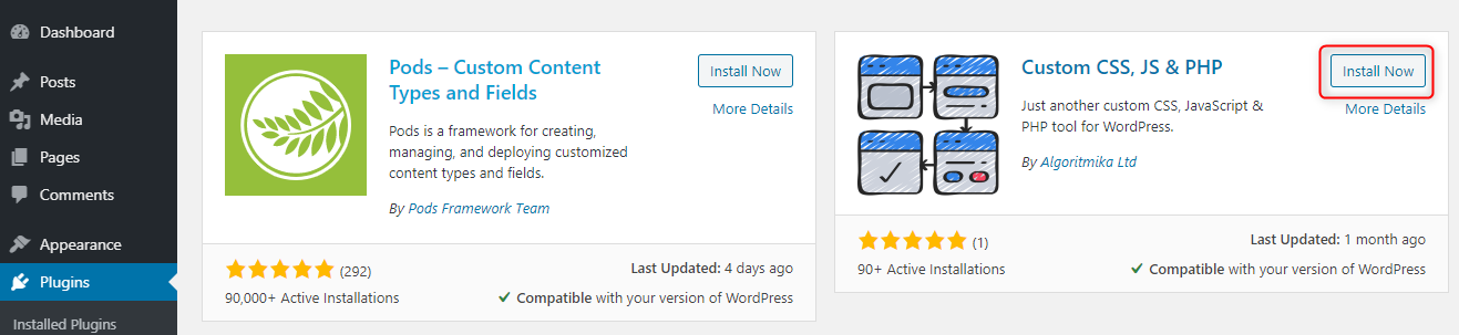 How to Add Custom PHP Code in WordPress - Install Custom PHP plugin