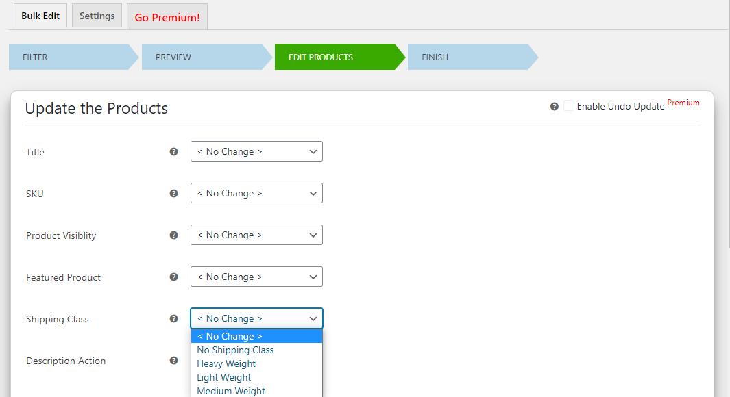 How to Bulk Edit WooCommerce Products - Elex WooCommerce Advanced Bulk Edit - Edit products - Shipping class