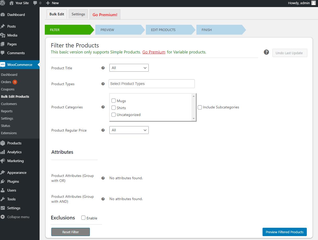 How to Bulk Edit WooCommerce Products - Elex WooCommerce Advanced Bulk Edit - Filter products