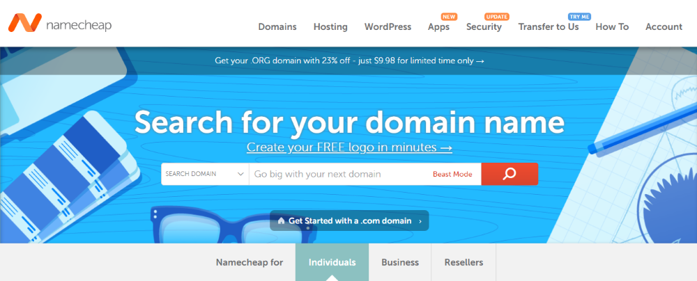 How to Get Started with WooCommerce - Get a domain name and hosting - Namecheap