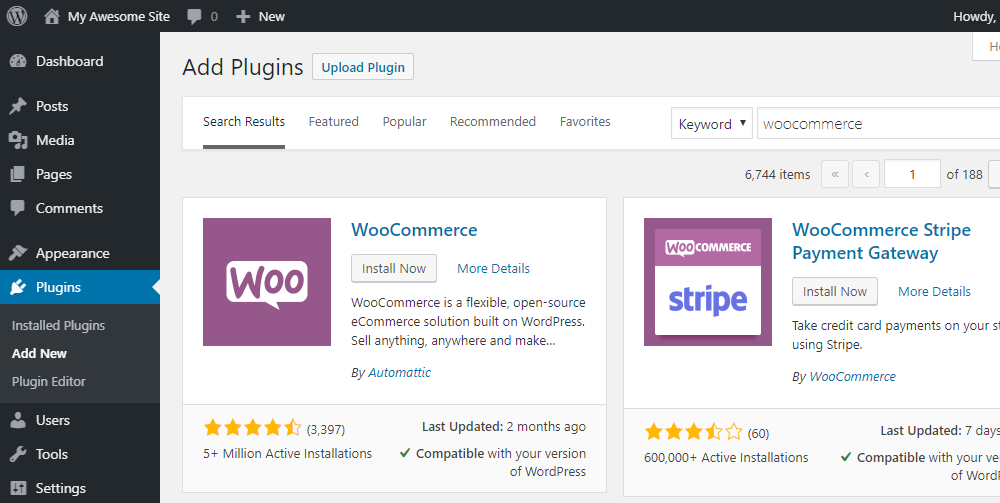 How to Get Started with WooCommerce - Install WooCommerce