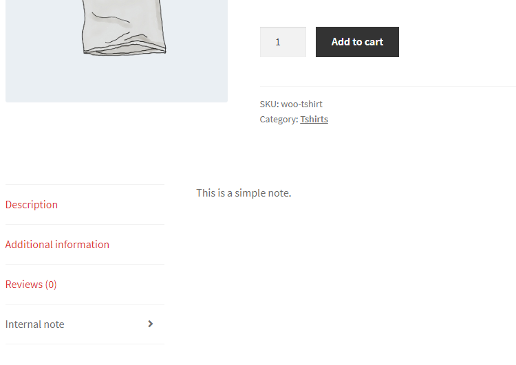 Internal Product Notes for WooCommerce - Product Frontend Tab