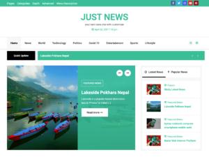 Just News - WordPress Theme