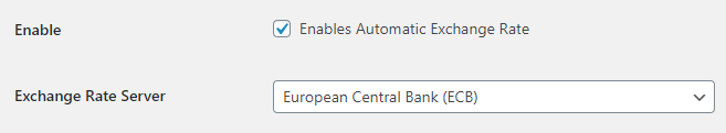Marketplace for WooCommerce - Multicurrency Addon - Settings - Automatic Exchange Rates Options