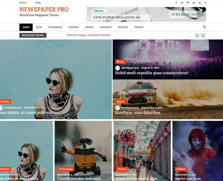 Newspaper Magazine – WordPress Theme
