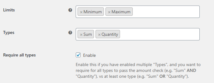Order Minimum Maximum Amount for WooCommerce - General Options
