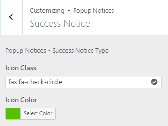 Popup Notices for WooCommerce - customizer-success-notice