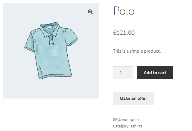 Price Offerings for WooCommerce - Frontend - Make Offer Button
