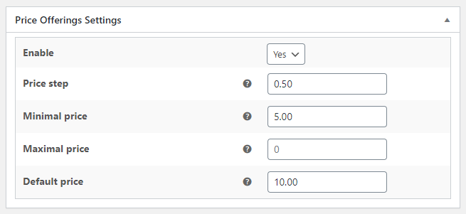 Price Offerings for WooCommerce - Per Product Settings