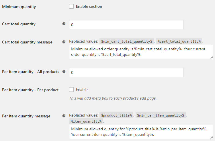 Product Quantity for WooCommerce - Minimum Quantity Options - v1.2.1