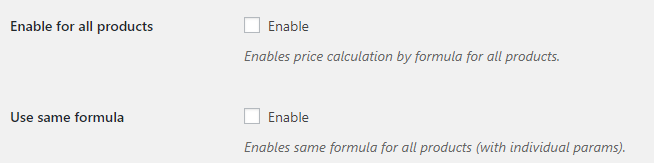 Product Price by Formula for WooCommerce - Bulk Settings