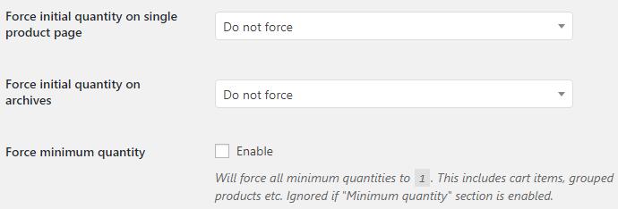 Product Quantity for WooCommerce - Force Quantity Options