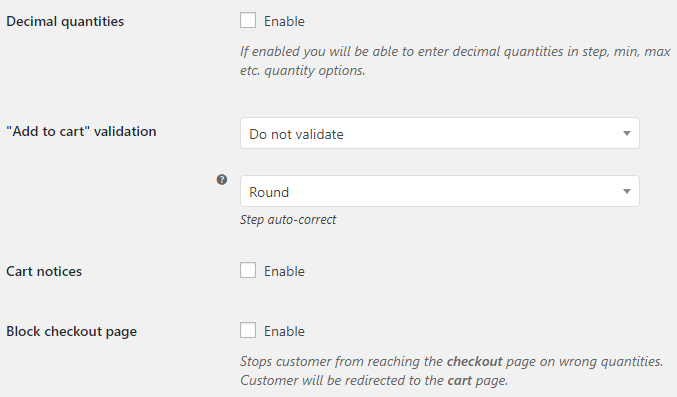 Product Quantity for WooCommerce - General Options