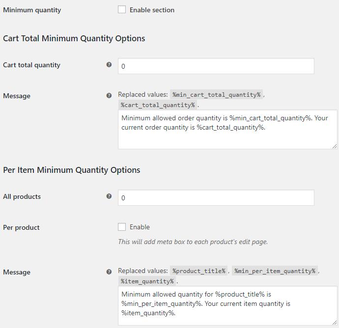 WooCommerce Quantity Control - Product Quantity for WooCommerce Minimum Quantity Options