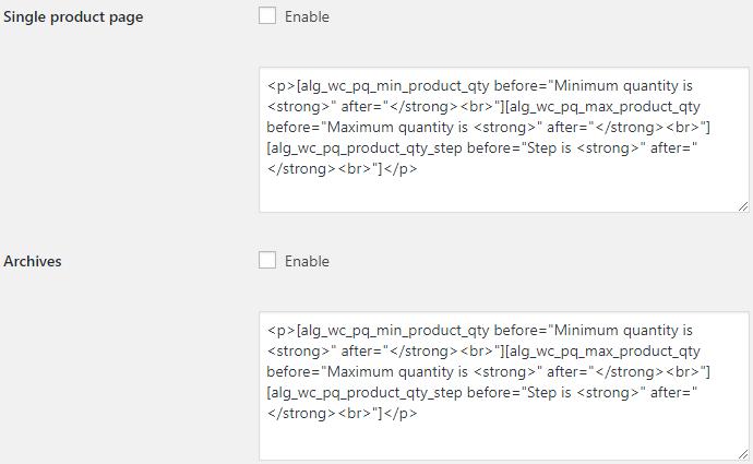 WooCommerce Quantity Control - Product Quantity for WooCommerce Quantity Info Options