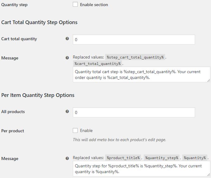 WooCommerce Quantity Control - Product Quantity for WooCommerce Quantity Step Options