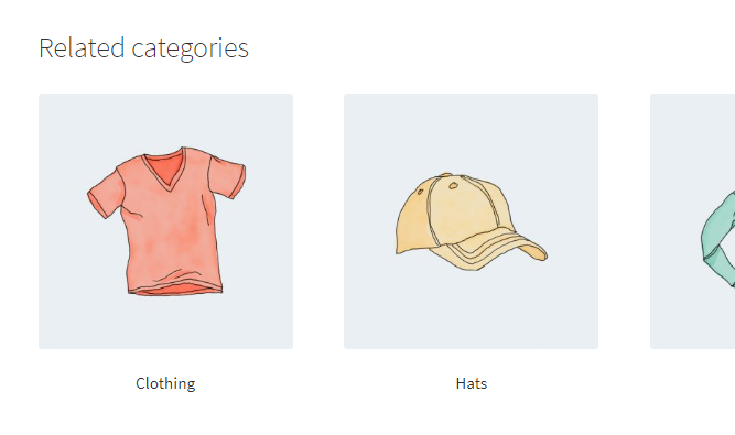 Related Categories for WooCommerce - Frontend Example