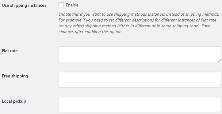 Shipping Icons and Descriptions for WooCommerce - Shipping Methods