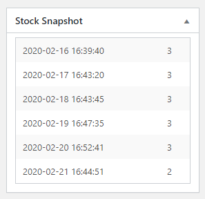 Stock Snapshot for WooCommerce - Product Stock History