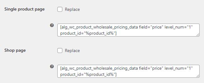 Info - Replace Price