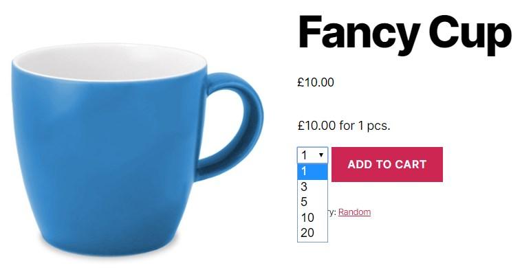 WooCommerce Quantity Control - Mug Dropdown