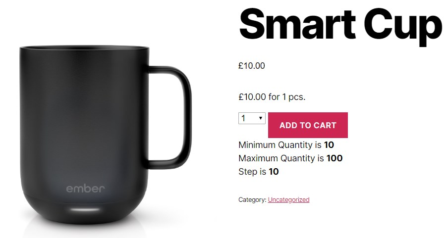 WooCommerce Quantity Control - Smart Cup